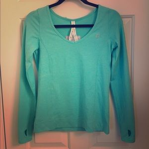 Lorna Jane Excel Mesh Mint Blue Long Sleeve